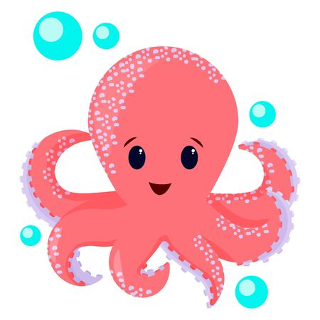 Octopus isolated on white Foto de archivo - 134552309