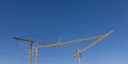 Cranes at Trondheim, Sor-Trondelag, Trondelag, Norway