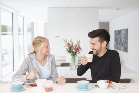 Couple enjoying breakfast together