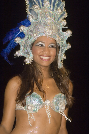 Female Samba dancer in costume