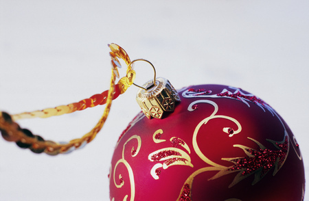 Detail view of a Christmas ornament LANG_EVOIMAGES