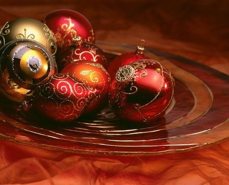Still life of Christmas decorations