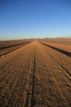 View of Endless street near Namib desert, Namibia, Africa