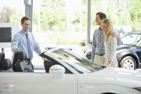 Couple shopping for new car