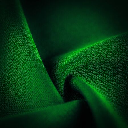 High resolution background texture, decorative basis for design, silk green fabric to make the desired size or shape by inserting the necessary elements or details. Stock Photo