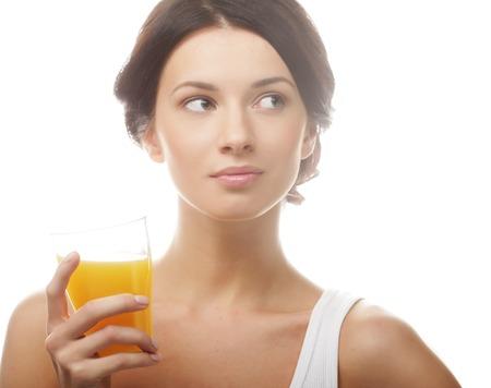 Woman juice glass