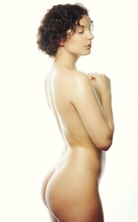 young nude girl: Schöne nackte Frau Posen Lizenzfreie Bilder