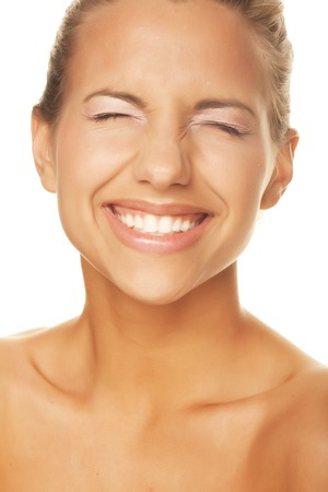 womanliness: happy woman Stock Photo