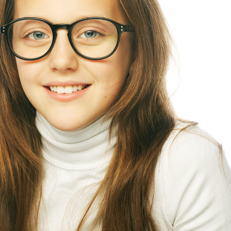 Shot of a little girl in glasses photo