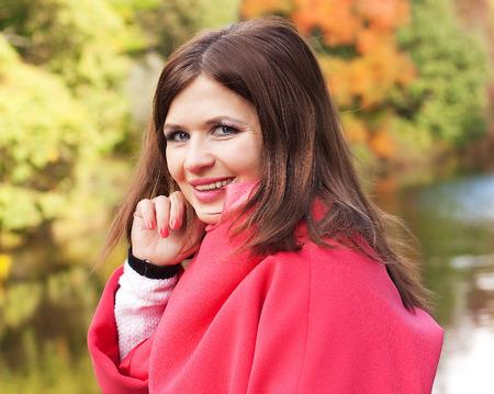 Fashion  happy woman in autumn season photo