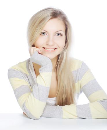 Beautiful young woman face. Фото со стока
