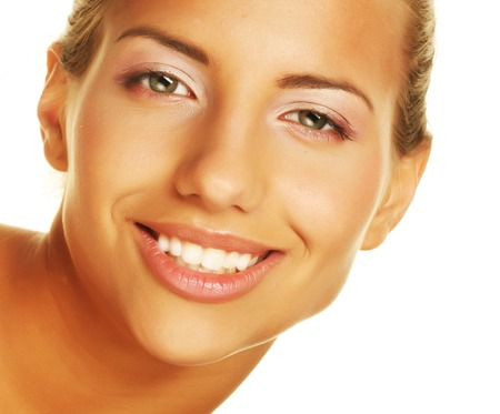 womanliness: beauty giving you a big smile