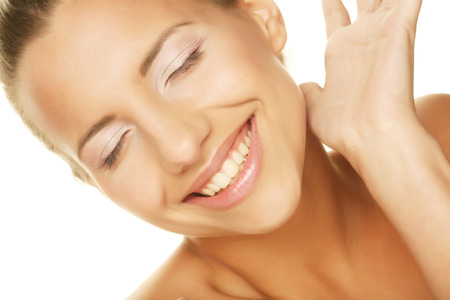 unblemished: young beauty Stock Photo