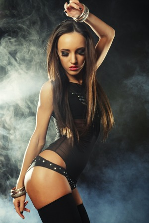fashion shoot: Fashion shoot of young sexy striptease dancer