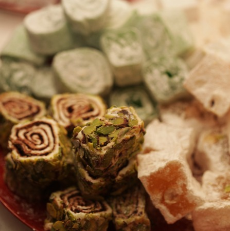 delight: Turkish delight with pistachio nuts