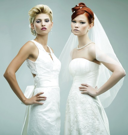two young brides photo