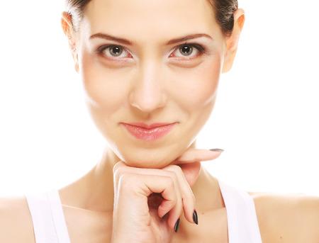 Beautiful woman face Фото со стока