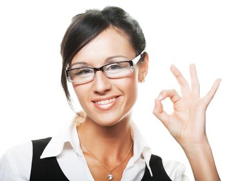 beautiful businesswoman: Young beautiful businesswoman Stock Photo