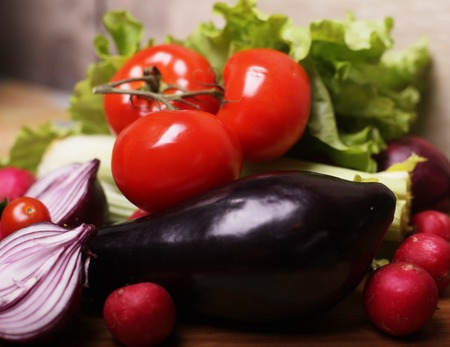 cholesterol free: vegetables for salad