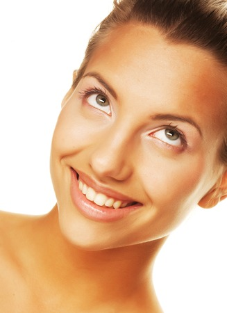 womanliness: young woman with clean skin