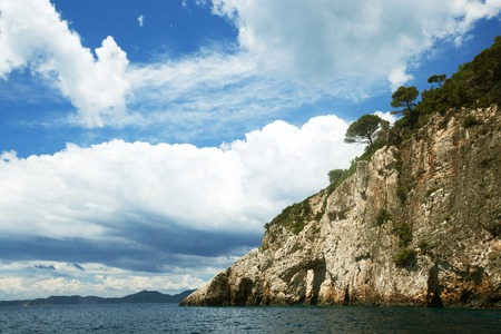zakynthos: Blue caves on Zakynthos island, Greece