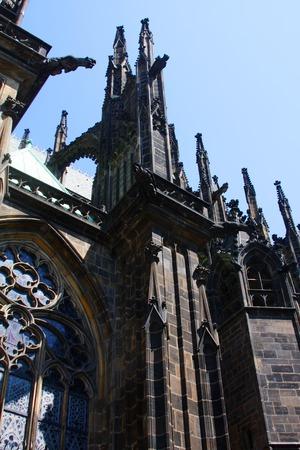 vitus: Saint Vitus Cathedral, Prague Stock Photo