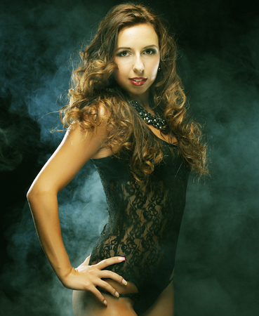 striptease: Fashion shoot of young striptease dancer