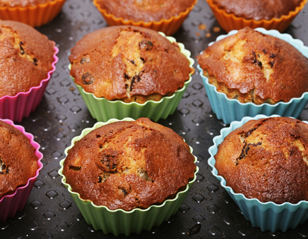 muffins, good food for breakfast, homemade food. Stok Fotoğraf