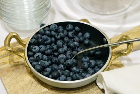 bilberries: Bilberries in vintage bowl