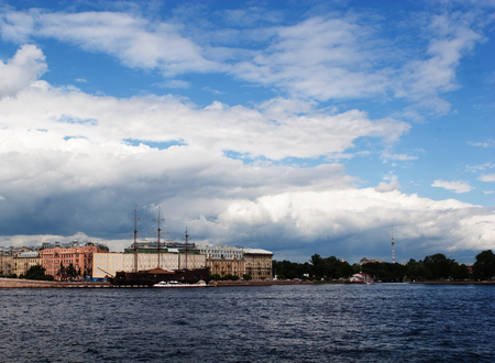 neva: St-Petersburg, Russia. Neva river, summer day