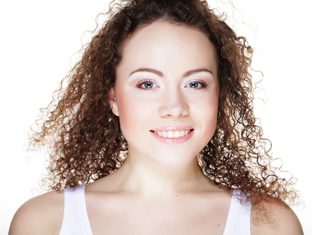 Beautiful womans face with clean skin