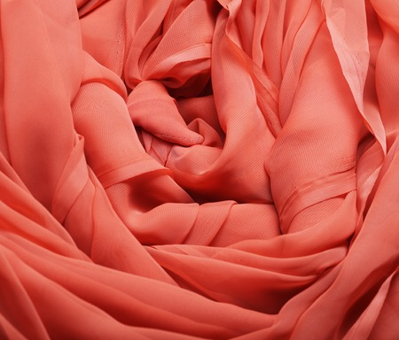 Flowing red fabric