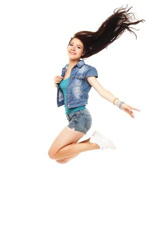 sho: Full length portrait of a young beautiful e girl wearing a  sho