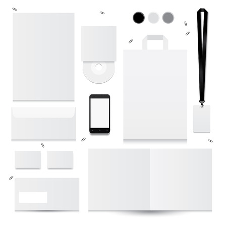 Set of corporate identity templates. Vector illustration Illustration