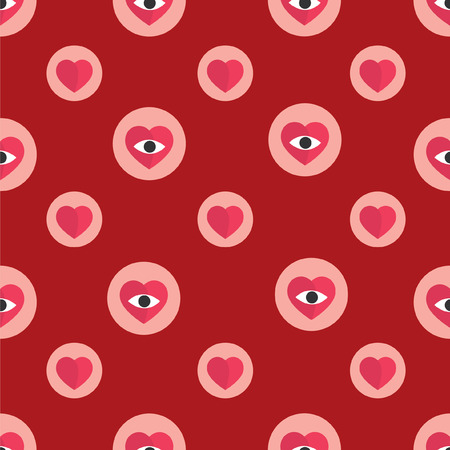 Modern pattern with hearts for fabric, wallpaper, gift wrap.