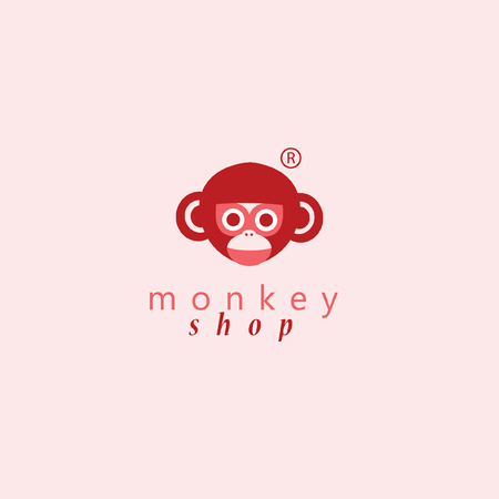 Monkey logo.Vector illustration for your business. Illusztráció