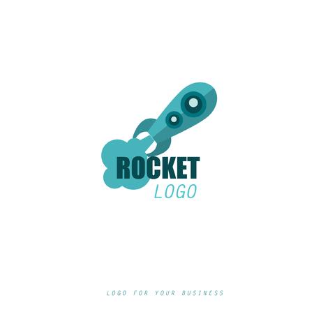 Rocket icoon. Logo voor uw bedrijf. Stock Illustratie