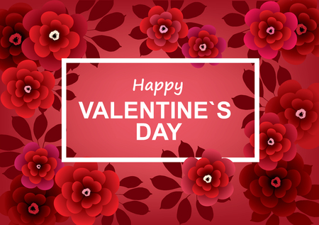 De gelukkige vectorillustratie van de Dag van de Valentijnskaart `s Stock Illustratie