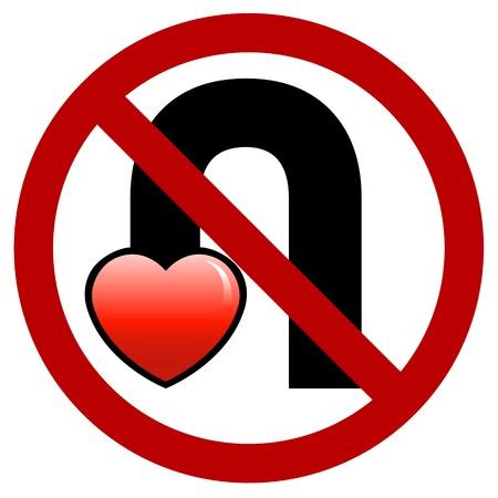 No U-Turn Your Love Sign Illustration