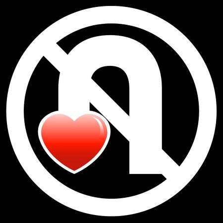 No U-Turn Your Love Sign (Black Version)