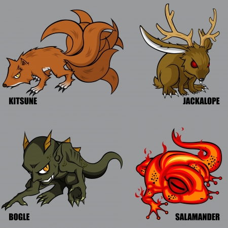 4 Graphic Of Mythical Creatures Set 05