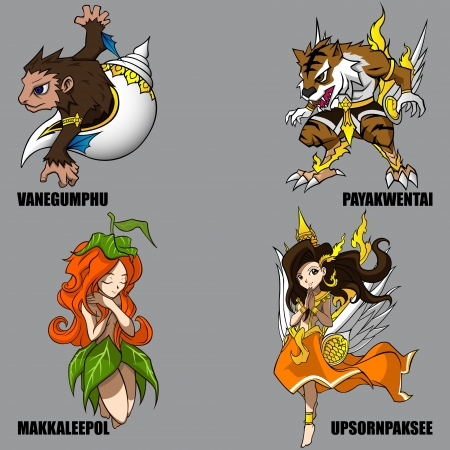 4 Graphic Of Mythical Creatures Set 09