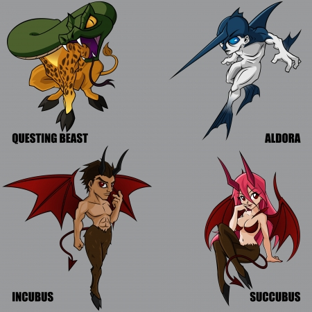 4 Graphic Of Mythical Creatures Set 14