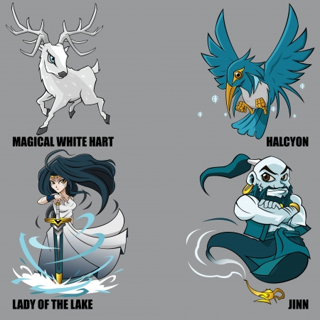 jinn: 4 Graphic Of Mythical Creatures Set 18