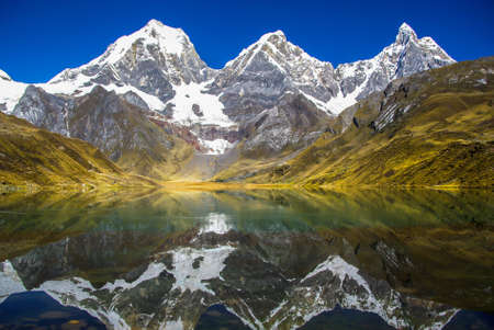 miror: Cordillera of the Andes, Peru Stock Photo
