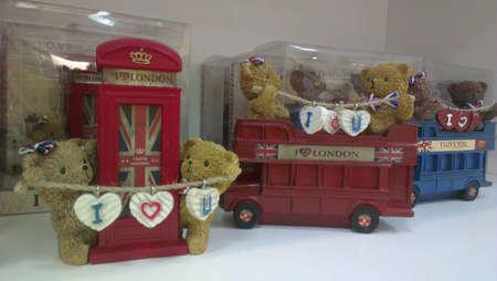 i love u: Decorations I Love London Stock Photo