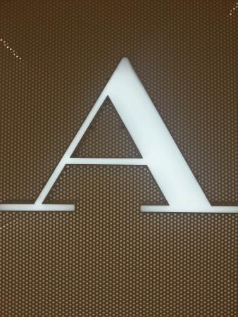 White color alphabetical A Stock Photo
