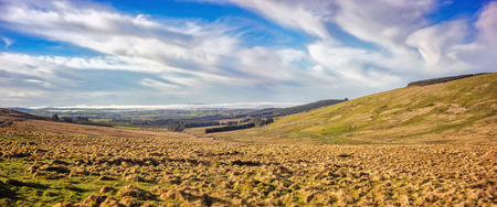 Panoramic landscape in southwest of Ireland in spring.