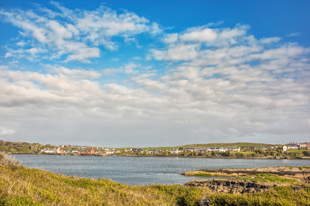 Panoramic view of Crookhaven (Irish: An Cruachán), a village in County Cork, Ireland, on the most southwestern tip of the island of Ireland.