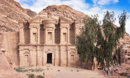 Ancient abandoned rock city of Petra in Jordan. Petra is one of the New Seven Wonders of the World.